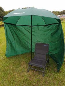 Bison 1.8m Top Inclinaison Parapluie Abri avec Fermeture Éclair sur Les côtés