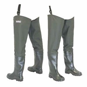 FortMen Watstiefel Pantalon de pêche pour Homme avec Bottes imperméables Taille 41-47, Vert Olive, Taille 43