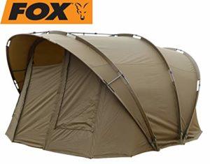 FOX R-Series 2 Man XL inc Inner Dome Kaki 315 x 330 x 185 cm Tente pour pêcheur, tente de pêche à la carpe pour pêche à la pêche nocturne