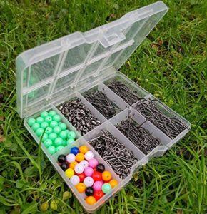 Generic Lot de crochets pour appâts en T avec perles