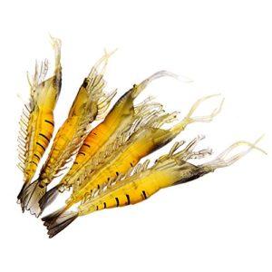 Lixada 5 PIÈCES 9cm souple et léger leurre de Pêche Simulation crevettes Bait odeur de poisson