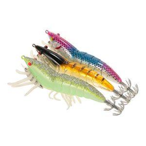 Lixada Lot de 105 artificielles pêche leurre appât Leurre cuillère Souple 2 Couches Boîte d'articles de pêche (Type1)