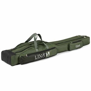 Lixada Sac de Pêche Portable Sac à roulettes 130cm / 150cm Trois Couches Pliant Canne À Pêche Sac Bobine Tackle Outil Carry Case Carrier Travel Bag