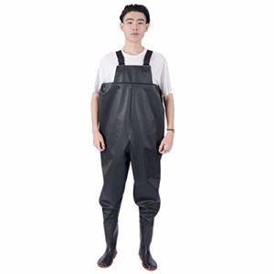 LSZHXL Waders de pêche en Plein air Pantalon étanche 75 Bottes de pêche en Soie Costume de pêche Wading Bottes en Caoutchouc Waders Chaussures Combinaisons