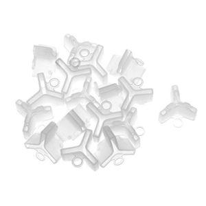 MagiDeal Lot de 100 Housse Protection de Hameçon Triple Pêche Capuchon de Crochet de Leurre 4 #