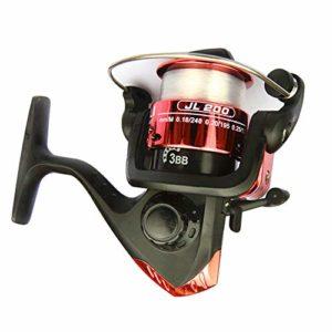 Schimer Moulinet à 3 Axes 5.2:1 Roulement à Billes Haute Vitesse Bobine de pêche avec système de freinage magnétique Système de roulement à Billes Gauche Moulinet à Haute Vitesse, Rouge