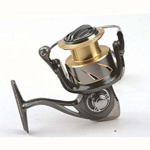 Yiwa 800-5000 Taille Spoon Spinning Reel Fishing 5.2: 1/9 + 1BB Full Metal Saltwater Spinning Reel MG5000