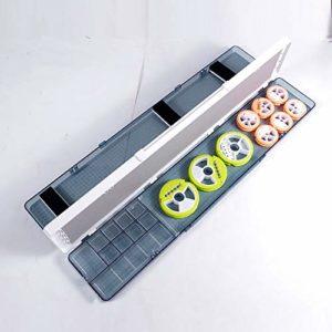 CXYY Appât De Pêche Boîte D'accessoires, 2 Caisses À Pêche en Porte-À-Faux À Palettes avec Compartiments Réglables