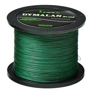DYMALAN Ligne de Pêche Tressée/ Ligne de Pêche Résistance à l'abrasion vert 80LB/36.4KG 0.50mm-547 Yds