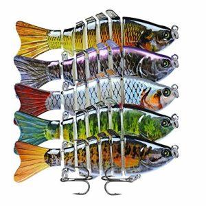 Guolipin Appâts de pêche Kit de 10 pièces de pêche Multi-Section de Poisson appât bionique leurre de pêche Universel Assorti appâts Ensembles Convient pour l'eau de mer et d'eau Douce (Size : 1)