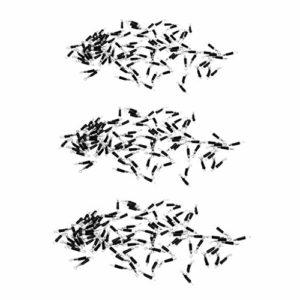 HomeDecTime 300pcs Swigels de Pêche Raccord de Ligne Changement Rapide Rolling Swivels Clip Swivels