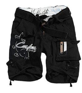 Hot Spot Design Short Carper Noir, Pantalon de pêche à la Carpe Pêcheurs Short, Noir