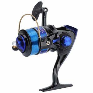 Keenso Tige de Moulinet de pêche, tête 12BB de Rotation de Plastique pour Moulinet de pêche de série YF de Roue de pêche en mer d'eau Douce/salée(1000-Noir)