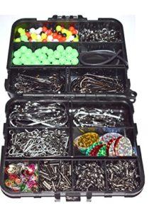 Lot de 597 Crochets à sertir en Forme de S dans Une boîte de 597 pièces pour pêche en mer