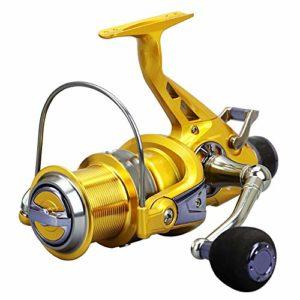 Loyfun Moulinet de pêche à double charge en métal avec frein avant et arrière, 60