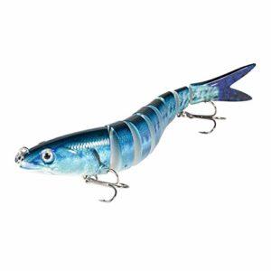 Magreel Leurre Truite, Leurre Pêche Multi Articulé, Kit de Pêche au Leurre à Décélération Lente pour Truite, Brochet, Perche et Plus