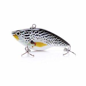 MJGW Leurres Souples 7Cm 18G Vib Crankbaits Wobbler Fishing Rattlin pour Leurre De Pêche Au Brochet Artificielle Dur Naufrage De Pêche