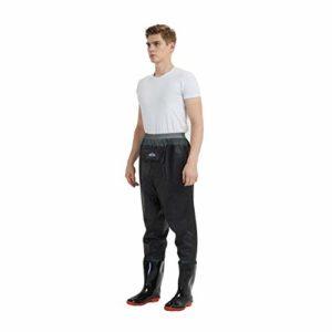 mufly Waders jusqu'à la Taille Pantalon de Wading de pêche avec Chaussures Waders Crosswater Respirants Waders de Chasse pour Hommes (UK Size 7- EU Size 41)