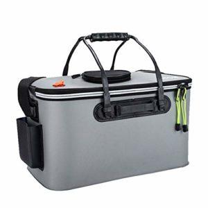 NBCDY Seau de pêche EVA, Seau de pêche Multifonctionnel Portable, conteneur d'eau Pliable pour Poissons Vivants, pour Voyager, randonnée, pêche, Camping.