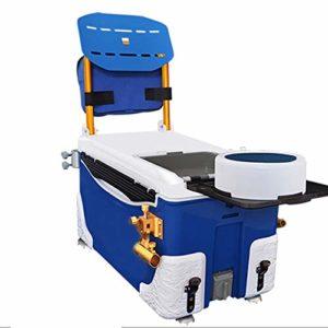 Seau Poissons Canne à pêche Portable Boîte Pleine Équipement de pêche avec Chaise Seau mer pêche boîte avec poulie for la pêche du réservoir Léger et Durable (Couleur : Bleu, Size : One Size)