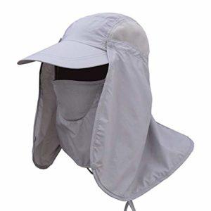 Sorliva Chapeau de pêche à séchage rapide pour homme, gris