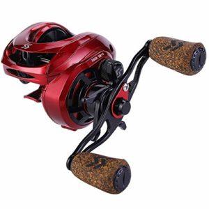 Sougayilang Moulinet de pêche Baitcasting, Rapport d'engrenage 8: 1 avec système de freinage magnétique, Moulinet Anti-Corrosion Baitcaster 9 + 1 roulements à Billes-Poignée Gauche