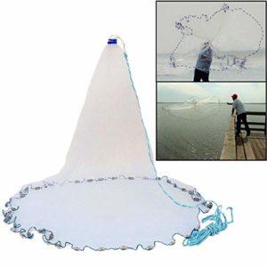 Trihedral-X Filet de pêche en Nylon de Style américain de 3,6m / 10ft jetant Un Filet de pêche à la Trappe avec Le bac