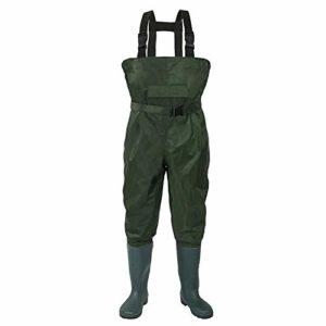 Y current Outdoor imperméable pêche Wading PVC Pantalons Respirant Eu38-47 Bottes 3-Couche armée Hommes Verts Femmes Waders Agriculture Salopettes Pantalons,41