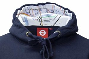 British Heritage Brands TFL™129 Licensed Unisex Mind The Gap™ Embroidered Hooded Sweatshirt XS