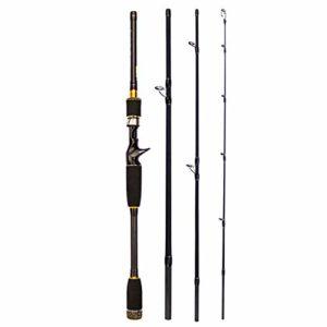Canne à pêche 4 sections longue portée en fibre de carbone ultralégère, portable, tige droite pour bassin, rivière, lac, b, 2,7 m