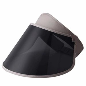 Chapeau de Soleil polarisé Parasol Femelle crème Solaire UV été mâle pêche en Plein air été 54-60cm ZHAOSHUNLI (Color : Gray)