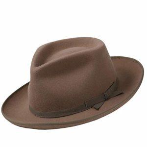 CHENGWJ Chapeau Fedora Panama mâle Chapeau Haut en Laine Britannique Britannique Rétro Homme Gentleman Chapeau Mode Feutre Sauvage Casquette
