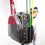 ChenYongPing Boîte de pêche multifonctionnelle, Haute capacité Tie Canne à pêche Bucket pêche boîte avec Sac Rod Multifonctions Porter pêche résistant Boîte (Color : Black, Size : One Size)
