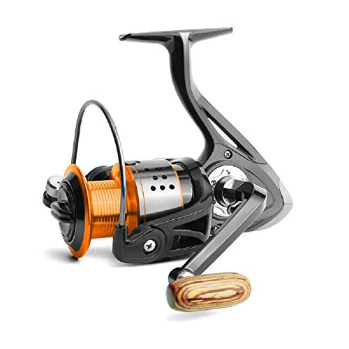 Danping Orange Noir Moulinets De Pêche Rapport 4.7: 1 Spinning Reel Fishing Bobines De Fil en Métal De Pêche en Eau Douce en Eau Douce 1000-6000 Series (FA-2000)