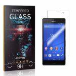 GIMTON Verre Trempé pour Sony Xperia Z3 Compact, 3D Touch Ultra Résistant Protection en Verre Trempé Écran pour Sony Xperia Z3 Compact, sans Traces de Doigts, 1 Pièces