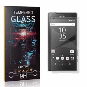 GIMTON Verre Trempé pour Sony Xperia Z5 Compact, 3D Touch Ultra Résistant Protection en Verre Trempé Écran pour Sony Xperia Z5 Compact, sans Traces de Doigts, 1 Pièces