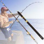 Jason Pitman 50-100lb Heave Bateau Fort 1.65m 2Sections Traîne Jig Canne à pêche au Gros gibier Saltwater Lente Jigging Rod (Length : 1.6m)