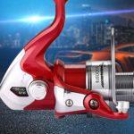 Moulinet de pêche Épingler des moulinets de pêche pour des moulinets de pêche sur glace en eau de mer ultra douce, ultra légère et puissante, à la truite Carpe Spinner Gear, rouge pour la pêche au lan