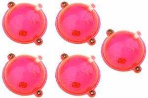N/A Lot de 5 flotteurs ronds pour pêche Rouge