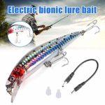 nlgzklsh Leurre de Pêche Électrique Vibration Swimbait avec Lumière LED Rechargeable USB