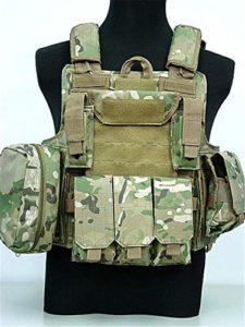 Sac extérieur Multi-Design Tactique Équipement Militaire Airsoft Combat Camouflage Chasse Gilet Khaki