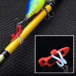 SEGRJ – 1 Crochet en Plastique pour pêche à appâts – Accessoire de pêche, Orange