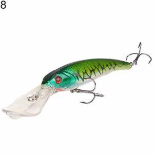 SEGRJ Appât de pêche Artificiel Long pour Gros méné 16,5 cm 28,5 g, 8