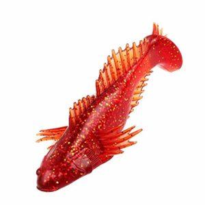 SEGRJ Appâts artificiels Souples pour pêche en Eau Douce et Eau salée, Red