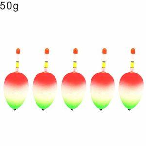 SEGRJ Segj Lot de 5 flotteurs de pêche Portables Pratiques en EVA pour pêche au Ventre 20 g 1 Couleur