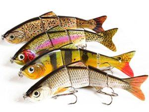 Set Leurres 4 Pièces pêche sur les prédateurs brochet sandre