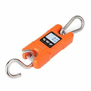 Shumo éChelle de Grue Portable 500 Kg / 1000 Lb Balances Suspendues NuméRiques Robustes Affichage LCD avec RéTro-éClairage pour la Maison Marché de PêChe PêChe Chasse Orange