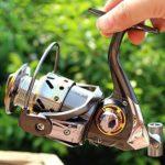 XXBFDT de pêche poignée Rabattable pêche Moulinet – Moulinet de pêche à Bascule Tout métal-Type 2000