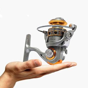 XXBFDT de pêche poignée Rabattable pêche Moulinet – Moulinet de pêche sur Glace sans dégagement