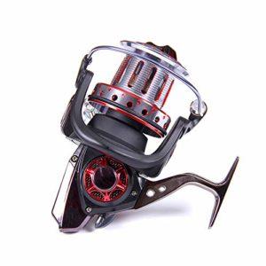 XXBFDT de pêche poignée Rabattable pêche Moulinet – Moulinet Tout métal Long cast-Type 12000